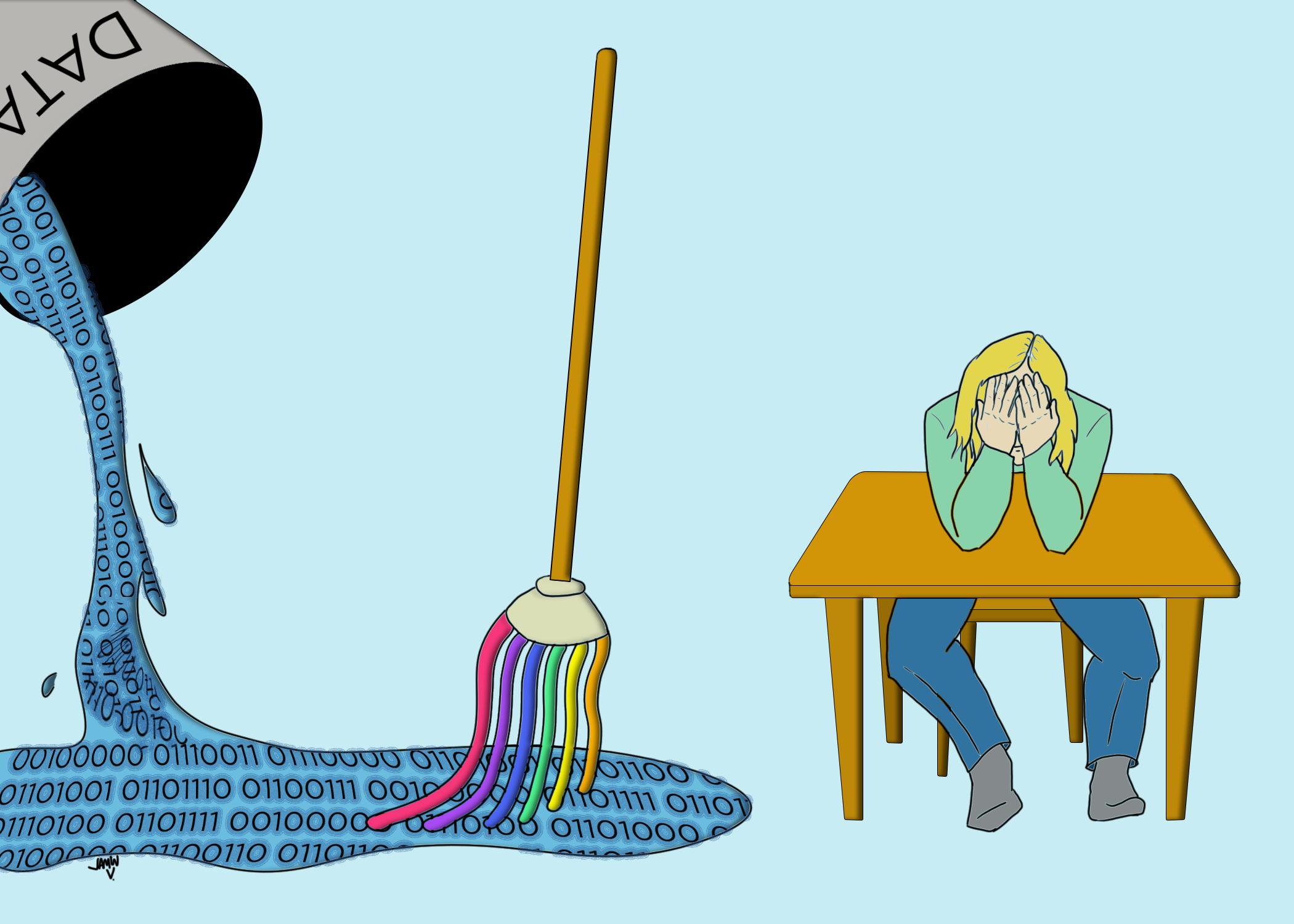data cleaning cartoon